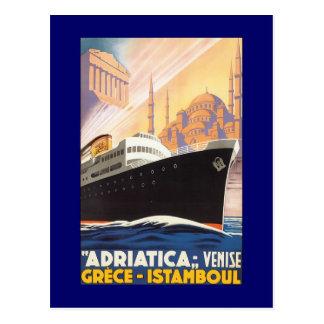 Vintage Kreuzfahrt-Schiff Venise Postkarte