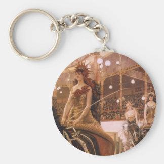 Vintage Kunst, Damen der Autos (Zirkus) durch Schlüsselanhänger