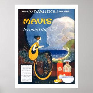 Vintage Kunst-Deko Mavis Parfüm-Werbung 1920 Poster