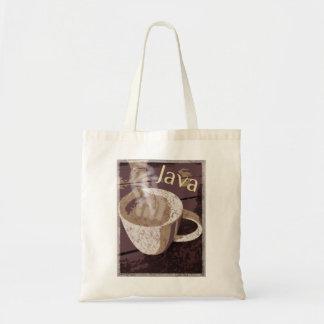 Vintage Kunst Kaffee-Java Tragetasche