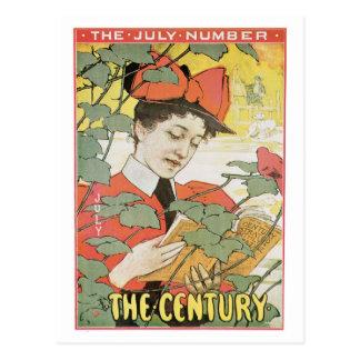 Vintage Kunst nouveau Jahrhundertzeitschrift Juli Postkarte