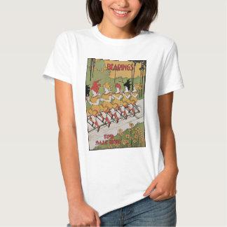 Vintage Kunst Nouveau, Lager, Frauen auf einem Hemd