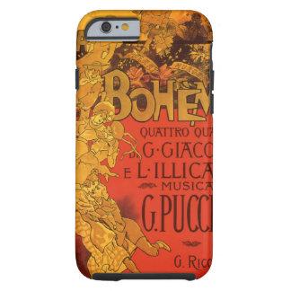 Vintage Kunst Nouveau Musik, La Boheme Oper, 1896 Tough iPhone 6 Hülle
