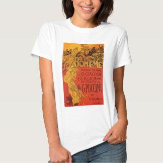 Vintage Kunst Nouveau Musik, La Boheme Oper, 1896 T-shirt