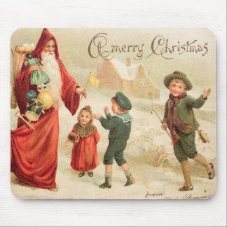 Vintage Kunst Sankt, Kinder der Weihnachtsszenen-w Mousepad