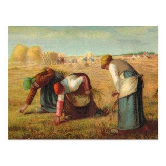 Vintage Kunst, Van Gogh, Gleaners auf dem Gebiet Postkarte