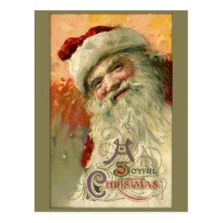 Vintage lächelnde Sankt-Weihnachtspostkarte Postkarte