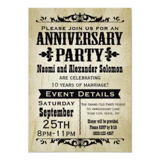 Vintage Land-Jahrestags-Party Einladung