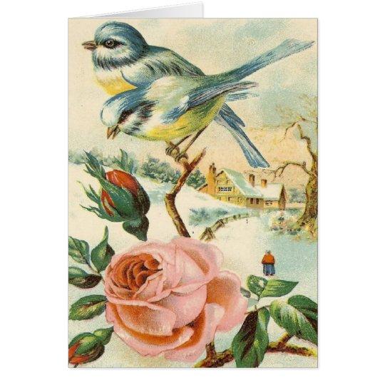 Vintage Land-Szenen-Anlass-Gruß-Karte Grußkarte