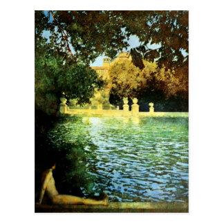 Vintage Landhäuser u. Gärten: Das Pool Postkarte