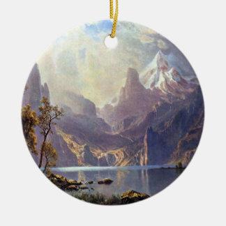 Vintage Landschaft, Lake Tahoe durch Albert Rundes Keramik Ornament