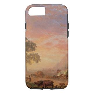 Vintage Landschaft, Oregon-Spur durch Bierstadt iPhone 8/7 Hülle