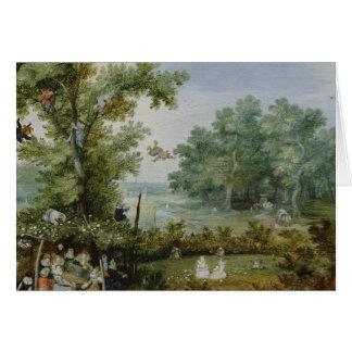 Vintage landschaftliche Malerei Karte