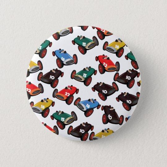 Vintage laufende Autos Runder Button 5,7 Cm