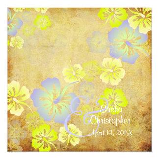 Vintage Leis Luau hibiscusWedding Einladungen