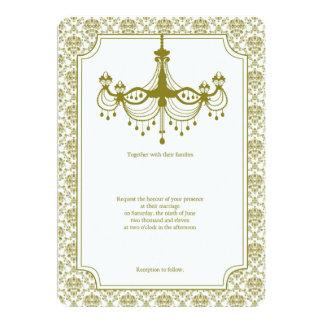 Vintage Leuchter-Hochzeit Karte