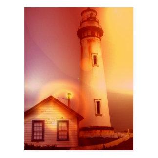 Vintage Leuchtturm-Postkarte Postkarte