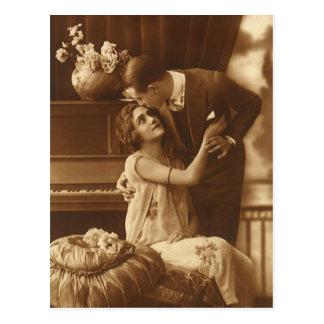 Vintage Liebhaber Liebe-Romance romantische Musik Postkarte