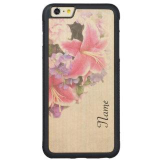 Vintage Lilien Carved® Maple iPhone 6 Plus Bumper Hülle