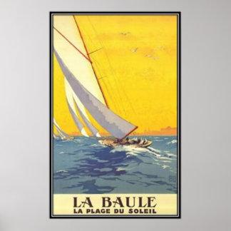 Vintage Loire-Region, La Baule, Frankreich - Plakatdrucke