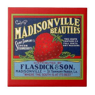 Vintage Louisiana-Erdbeerstoß-Kisten-Aufkleber-Fli Keramikfliese