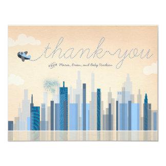 Vintage Luftfahrt-Baby-Dusche danken Ihnen Karten 10,8 X 14 Cm Einladungskarte