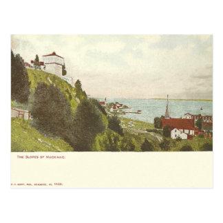 Vintage Mackinac Insel Michigan Postkarte