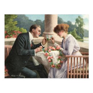 Vintage madame et monsieur, amours carte postale