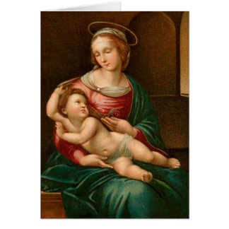 Vintage Madonna und Kinderreligiöse Karte