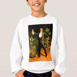 Vintage Magier-Kaninchen-Rosen-Tauben-magische Sweatshirt