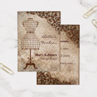 Vintage Mannequinmode-Geschäftskarten Visitenkarte