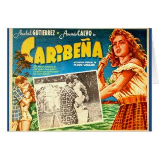 Vintage mexikanische Filmplakat-Grußkarte Karte