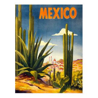 Vintage Mexiko-Reise Postkarte
