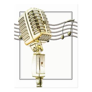 Vintage Mikrofon-Postkarte Postkarte