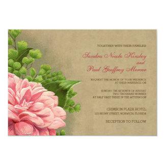 Vintage mit Blumenpfingstrosen-noble elegante Karte