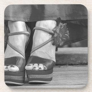 Vintage Mode-Fotografie Getränkeuntersetzer