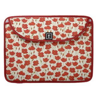 Vintage Mohnblumen-Tapete Sleeve Für MacBooks