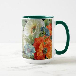 Vintage Mohnblumen und Cornflowers-BlumenTasse Tasse