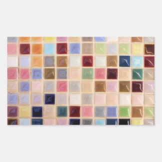Vintage Mosaik-Fliesen Rechteckiger Aufkleber