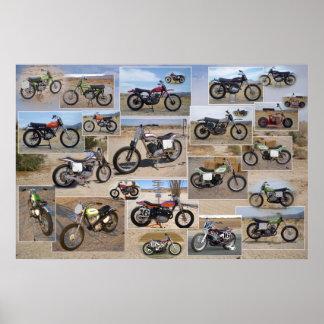Vintage Motorrad-Sammlung, Lech 36x24 Poster