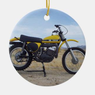 Vintage Motorrad-Weihnachtsverzierung Keramik Ornament