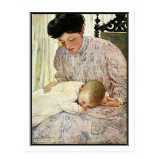 Vintage Mutter und Baby durch Jessie Willcox Smith Postkarte