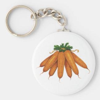 Vintage Nahrung, Bündel Bio Karotten-Gemüse Schlüsselanhänger