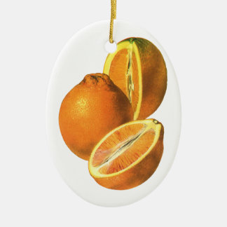 Vintage Nahrungsmittel, tragen Bio frische gesunde Ovales Keramik Ornament