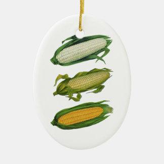 Vintage Nahrungsmittelgesundes Gemüse, frischer Ovales Keramik Ornament