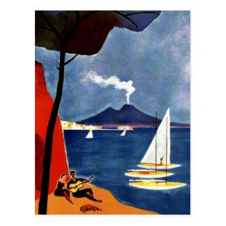 Vintage Napoli Reise-Liebe Romance Postkarte