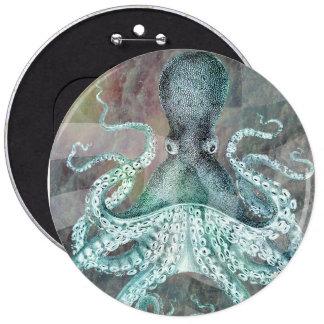 Vintage nautischkrake runder button 15,3 cm