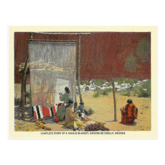 Vintage Navajo-Weber Postkarte
