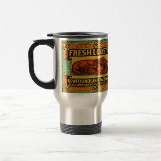 Vintage Neufundland-Hummer-Reise-Tasse Edelstahl Thermotasse