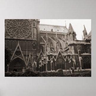 Vintage Notre- Damekathedrale, Poster